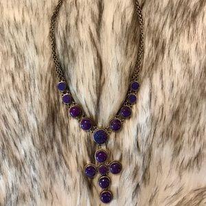 Drasky purple cross necklace